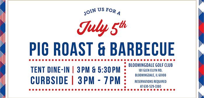 Join Us For Our July 5th BBQ and Pig Roast